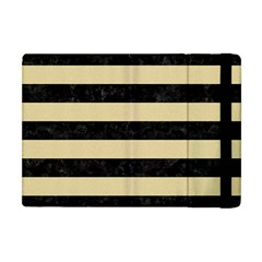 Stripes2 Black Marble & Light Sand Apple Ipad Mini Flip Case by trendistuff