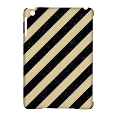 Stripes3 Black Marble & Light Sand Apple Ipad Mini Hardshell Case (compatible With Smart Cover) by trendistuff