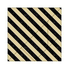 Stripes3 Black Marble & Light Sand (r) Acrylic Tangram Puzzle (6  X 6 ) by trendistuff