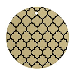 Tile1 Black Marble & Light Sand (r) Ornament (round) by trendistuff