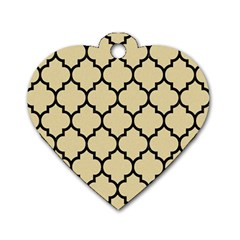 Tile1 Black Marble & Light Sand (r) Dog Tag Heart (two Sides) by trendistuff
