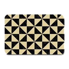Triangle1 Black Marble & Light Sand Plate Mats by trendistuff