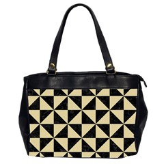 Triangle1 Black Marble & Light Sand Office Handbags (2 Sides)  by trendistuff