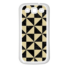 Triangle1 Black Marble & Light Sand Samsung Galaxy S3 Back Case (white) by trendistuff