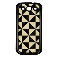 Triangle1 Black Marble & Light Sand Samsung Galaxy S3 Back Case (black) by trendistuff