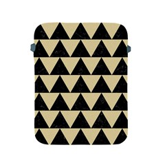 Triangle2 Black Marble & Light Sand Apple Ipad 2/3/4 Protective Soft Cases by trendistuff