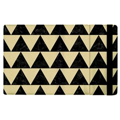 Triangle2 Black Marble & Light Sand Apple Ipad Pro 9 7   Flip Case