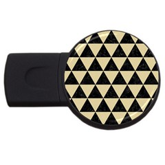 Triangle3 Black Marble & Light Sand Usb Flash Drive Round (2 Gb) by trendistuff