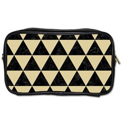 Triangle3 Black Marble & Light Sand Toiletries Bags by trendistuff