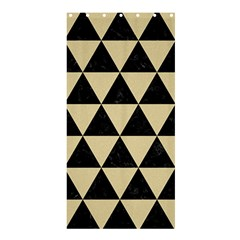 Triangle3 Black Marble & Light Sand Shower Curtain 36  X 72  (stall)  by trendistuff