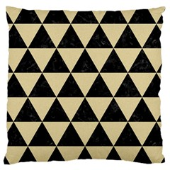 Triangle3 Black Marble & Light Sand Large Cushion Case (two Sides) by trendistuff