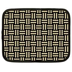 Woven1 Black Marble & Light Sand Netbook Case (large) by trendistuff