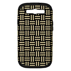Woven1 Black Marble & Light Sand Samsung Galaxy S Iii Hardshell Case (pc+silicone) by trendistuff