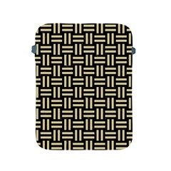 Woven1 Black Marble & Light Sand Apple Ipad 2/3/4 Protective Soft Cases by trendistuff