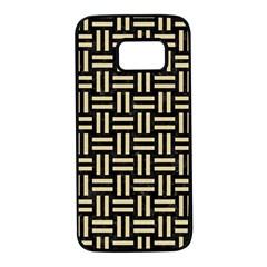 Woven1 Black Marble & Light Sand Samsung Galaxy S7 Black Seamless Case by trendistuff