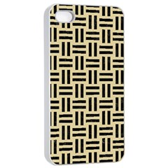 Woven1 Black Marble & Light Sand (r) Apple Iphone 4/4s Seamless Case (white) by trendistuff