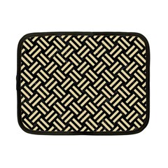Woven2 Black Marble & Light Sand Netbook Case (small)  by trendistuff