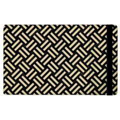 Woven2 Black Marble & Light Sand Apple Ipad 3/4 Flip Case by trendistuff