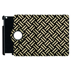 Woven2 Black Marble & Light Sand Apple Ipad 3/4 Flip 360 Case by trendistuff