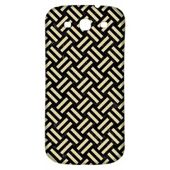 Woven2 Black Marble & Light Sand Samsung Galaxy S3 S Iii Classic Hardshell Back Case by trendistuff