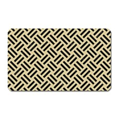 Woven2 Black Marble & Light Sand (r) Magnet (rectangular) by trendistuff