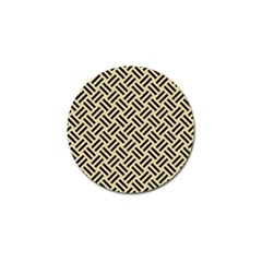 Woven2 Black Marble & Light Sand (r) Golf Ball Marker (10 Pack) by trendistuff