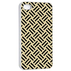 Woven2 Black Marble & Light Sand (r) Apple Iphone 4/4s Seamless Case (white) by trendistuff