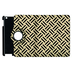 Woven2 Black Marble & Light Sand (r) Apple Ipad 2 Flip 360 Case by trendistuff