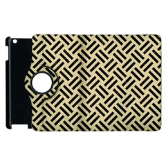 Woven2 Black Marble & Light Sand (r) Apple Ipad 3/4 Flip 360 Case by trendistuff