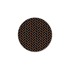 Brick2 Black Marble & Natural Red Birch Wood Golf Ball Marker (10 Pack) by trendistuff