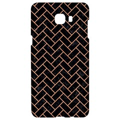 Brick2 Black Marble & Natural Red Birch Wood Samsung C9 Pro Hardshell Case  by trendistuff