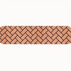 Brick2 Black Marble & Natural Red Birch Wood (r) Large Bar Mats by trendistuff