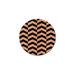 Chevron2 Black Marble & Natural Red Birch Wood Golf Ball Marker (4 Pack)