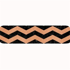 Chevron3 Black Marble & Natural Red Birch Wood Large Bar Mats by trendistuff