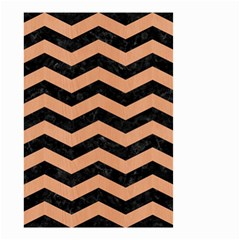 Chevron3 Black Marble & Natural Red Birch Wood Small Garden Flag (two Sides) by trendistuff
