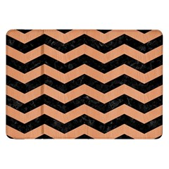Chevron3 Black Marble & Natural Red Birch Wood Samsung Galaxy Tab 8 9  P7300 Flip Case by trendistuff