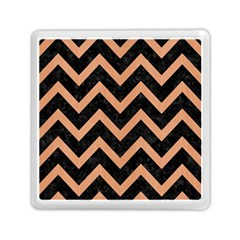 Chevron9 Black Marble & Natural Red Birch Wood Memory Card Reader (square)  by trendistuff