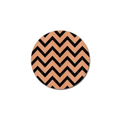 Chevron9 Black Marble & Natural Red Birch Wood (r) Golf Ball Marker (10 Pack) by trendistuff