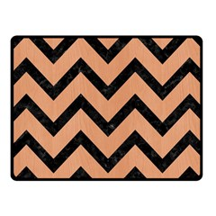 Chevron9 Black Marble & Natural Red Birch Wood (r) Fleece Blanket (small) by trendistuff