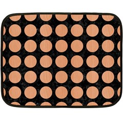 Circles1 Black Marble & Natural Red Birch Wood Double Sided Fleece Blanket (mini)  by trendistuff