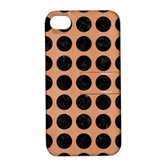 Circles1 Black Marble & Natural Red Birch Wood (r) Apple Iphone 4/4s Hardshell Case With Stand by trendistuff