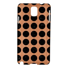 Circles1 Black Marble & Natural Red Birch Wood (r) Samsung Galaxy Note 3 N9005 Hardshell Case by trendistuff