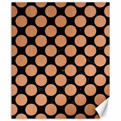 Circles2 Black Marble & Natural Red Birch Wood Canvas 8  X 10  by trendistuff