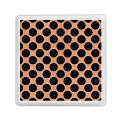 Circles2 Black Marble & Natural Red Birch Wood (r) Memory Card Reader (square)  by trendistuff