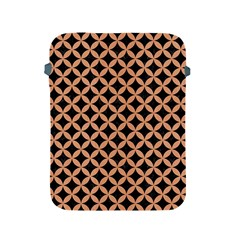 Circles3 Black Marble & Natural Red Birch Wood Apple Ipad 2/3/4 Protective Soft Cases by trendistuff