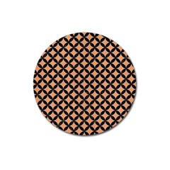 Circles3 Black Marble & Natural Red Birch Wood (r) Magnet 3  (round) by trendistuff