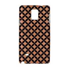 Circles3 Black Marble & Natural Red Birch Wood (r) Samsung Galaxy Note 4 Hardshell Case by trendistuff