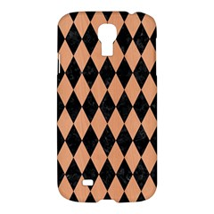 Diamond1 Black Marble & Natural Red Birch Wood Samsung Galaxy S4 I9500/i9505 Hardshell Case by trendistuff
