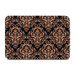 Damask1 Black Marble & Natural Red Birch Wood Plate Mats by trendistuff