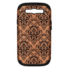 Damask1 Black Marble & Natural Red Birch Wood (r) Samsung Galaxy S Iii Hardshell Case (pc+silicone) by trendistuff